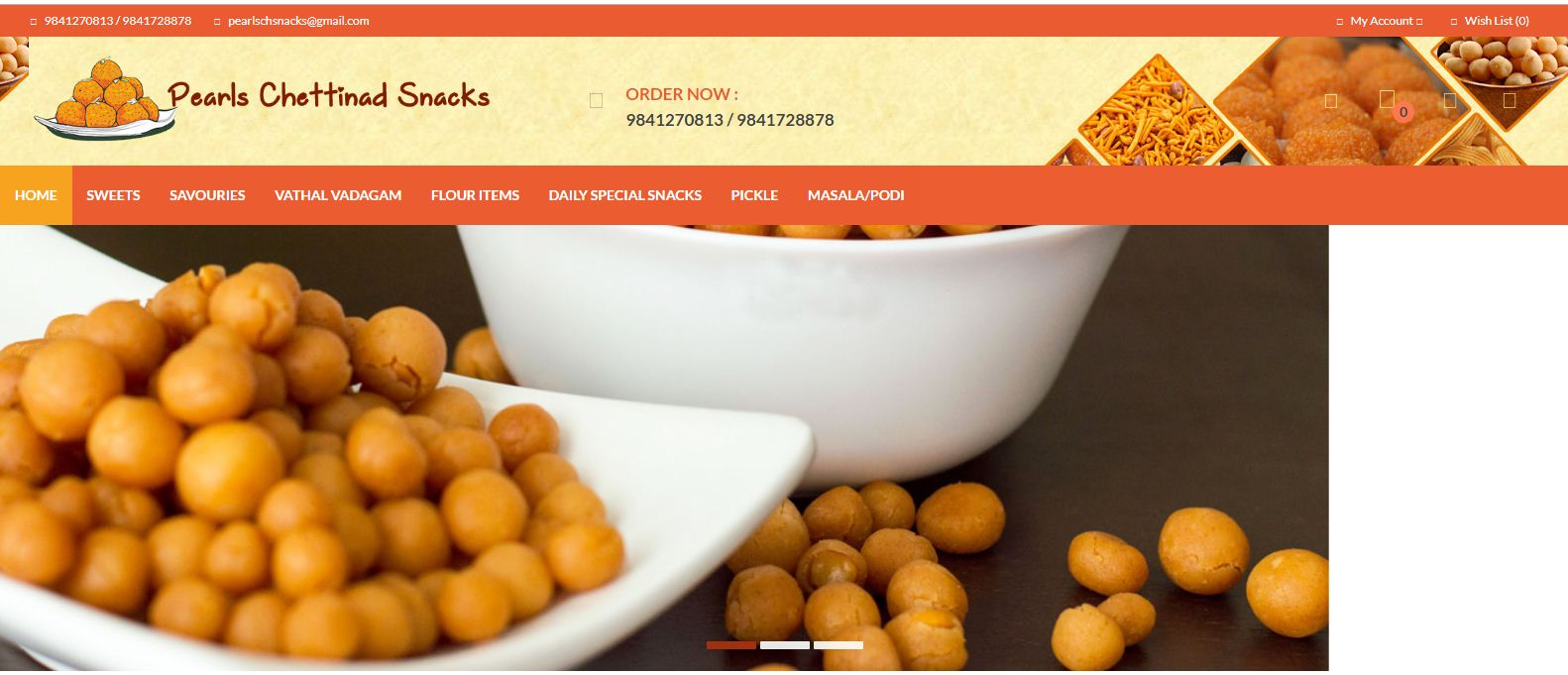 Pearls Chettinad Snacks